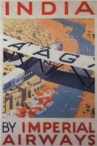 Vintage airline poster -  India by Imperial Airways